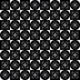 Modelo geométrico inconsútil Cuadrados, diamantes y círculos grises en un fondo blanco Vector Fotografía de archivo libre de regalías
