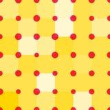 Modelo geométrico inconsútil de cuadrados y de círculos brillantes Imágenes de archivo libres de regalías