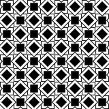 Modelo geométrico inconsútil de cuadrados y de Rhombus Imagen de archivo libre de regalías