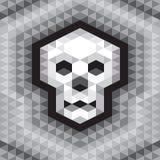 Modelo geométrico inconsútil del cráneo en colores del grayscale Foto de archivo libre de regalías