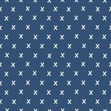 Modelo geométrico inconsútil del fondo x en azules marinos ilustración del vector