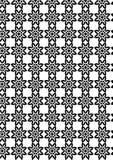 Modelo geométrico inconsútil del vector abstracto blanco y negro Fotos de archivo libres de regalías