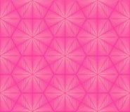Modelo geométrico inconsútil en colores rosados Imagen de archivo libre de regalías
