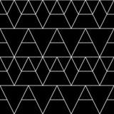 Modelo geométrico inconsútil Fondo clásico del vector en color blanco y negro stock de ilustración