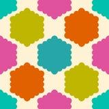 Modelo geométrico inconsútil Fondo geométrico del infinito del panal rizado colorido del extracto Sexangle, fondo del hexágono Imagen de archivo
