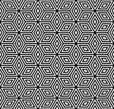 Modelo geométrico inconsútil ilusión 3D Foto de archivo libre de regalías