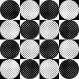 Modelo geométrico inconsútil Lunares blancos y negros de los círculos Vector Imagen de archivo
