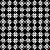 Modelo geométrico inconsútil monótono blanco y negro del vector libre illustration