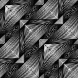 Modelo geométrico monocromático inconsútil del diseño Fotos de archivo