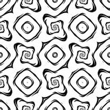 Modelo geométrico monocromático inconsútil del diseño Imagenes de archivo