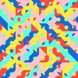 Modelo geométrico an o 80 del estilo del arte pop de la moda de la diversión Imagenes de archivo