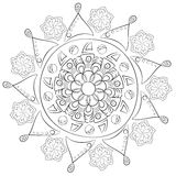 Modelo geométrico Página para el libro de colorear Imagen de archivo