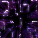 Modelo geométrico púrpura ilustración del vector