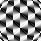 Modelo geométrico poligonal metálico El fondo cóncavo que riela de oscuridad para encender tonos crea efecto óptico del volumen ilustración del vector