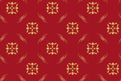 Modelo geométrico rojo inconsútil Imagen de archivo libre de regalías