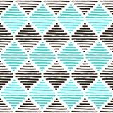 Modelo geométrico simple Colores de Brown, azules claros y blancos VI Foto de archivo libre de regalías