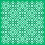 Modelo geométrico verde del ornamento Fotografía de archivo