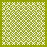 Modelo geométrico verde oliva del ornamento Imagenes de archivo