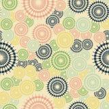Modelo geom?trico abstracto con las l?neas Los círculos se dispersan aleatoriamente en un fondo ligero ilustración del vector