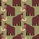 Modelo gigantesco inconsútil Fondo prehistórico del elefante gigante libre illustration