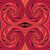 Modelo giratorio rojo y negro inconsútil abstracto ilustración del vector