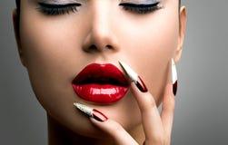Modelo Girl de la belleza de la moda fotografía de archivo libre de regalías