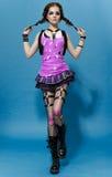 Modelo Girl Portrait del estilo de Runk de la moda hairstyle Maquillaje punky de la mujer Fotografía de archivo