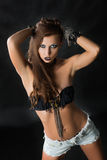 Modelo Girl Portrait del estilo del eje de balancín de la moda Fotografía de archivo libre de regalías