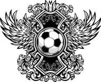 Modelo gráfico adornado del balón de fútbol Foto de archivo libre de regalías