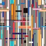 Modelo gráfico de rayas geométricas Fotos de archivo libres de regalías