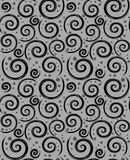 Modelo gris del negro inconsútil del extracto stock de ilustración