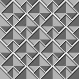 Modelo gris inconsútil geométrico abstracto del vector con los cuadrados Imágenes de archivo libres de regalías