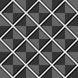 Modelo gris inconsútil geométrico abstracto del vector con los cuadrados Imagen de archivo libre de regalías