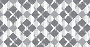 Modelo gris Textura del Rhombus para - la tela escocesa, los manteles, las camisas, los vestidos, el papel, el lecho, las mantas, stock de ilustración
