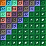 Modelo hecho de círculos y de cuadrados Imagenes de archivo