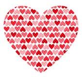 Modelo hecho de corazones. Día de tarjetas del día de San Valentín imágenes de archivo libres de regalías