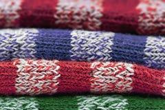 Modelo hecho punto de las lanas Fotografía de archivo libre de regalías