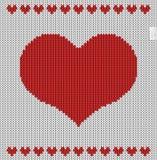 Modelo hecho punto del día de tarjetas del día de San Valentín Foto de archivo libre de regalías