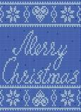 Modelo hecho punto inconsútil del estilo escandinavo, Feliz Navidad Fotos de archivo