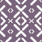 Modelo hecho punto inconsútil en color púrpura silenciado ilustración del vector