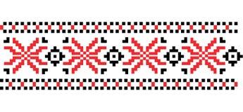 Modelo hecho punto rumano tradicional del bordado del arte popular Vector Foto de archivo