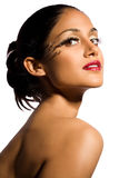 Modelo hermoso de los cosméticos Foto de archivo libre de regalías