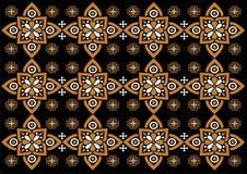 Modelo hermoso del ornamento de Indonesia del batik libre illustration