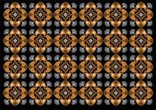 Modelo hermoso del ornamento de Indonesia del batik stock de ilustración