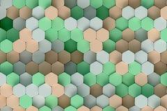 Modelo hexagonal Imágenes de archivo libres de regalías