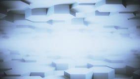 Modelo hexagonal mínimo limpio brillante de la rejilla de la luz lisa superficial de escritorio geométrica del movimiento del hex ilustración del vector