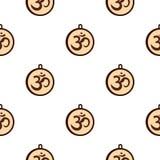Modelo hindú del símbolo de OM inconsútil libre illustration