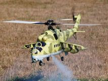 Modelo Hind Scale Model Helicopter de RC Imagenes de archivo
