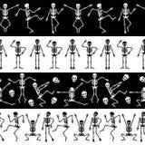 modelo horizontal de los esqueletos libre illustration