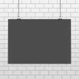 Modelo horizontal do cartaz do vetor ilustração stock